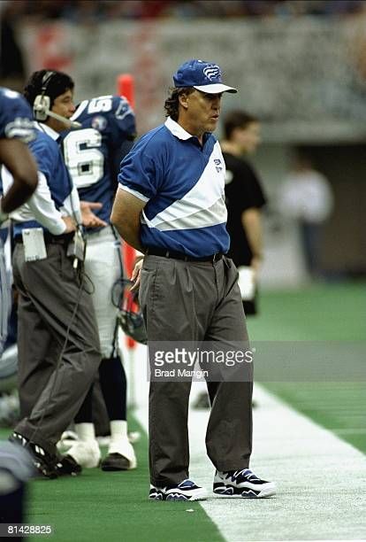 Grey Cup Baltimore CFL's coach Don Matthews during game vs British Columbia Lions Vancouver CAN