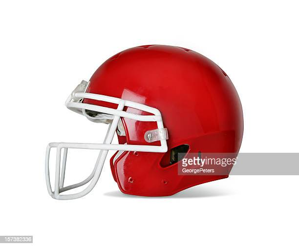 football helmet with clipping path - football helmet stock pictures, royalty-free photos & images