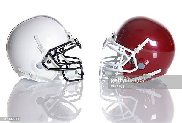 football helmets - football helmet stock pictures, royalty-free photos & images