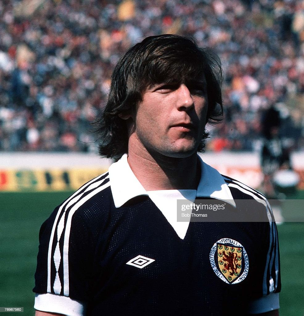 Football. Home Championship. 20th May 1978. Scotland 0 v England 1. Willie Johnston of Scotland. : News Photo