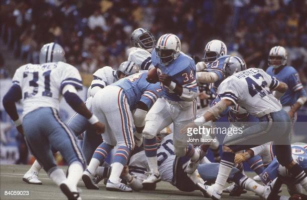Houston Oilers Earl Campbell in action vs Dallas Cowboys Houston TX CREDIT John Iacono