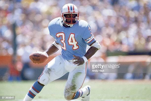 Football Houston Oilers Earl Campbell in action vs Los Angeles Rams Los Angeles CA 9/8/1981