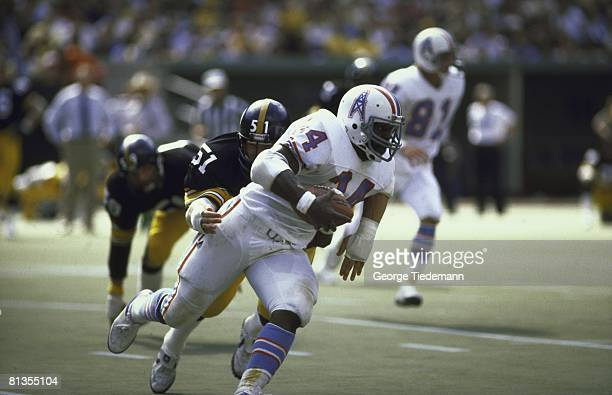 Football Houston Oilers Earl Campbell in action vs Pittsburgh Steelers Pittsburgh PA 9/7/1980