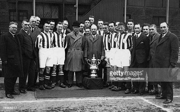 Football HRH Prince of Wales pictured with the FA Cup winners West Bromwich Albion at the Hawthorns during a Royal visit to the West Midlands after...