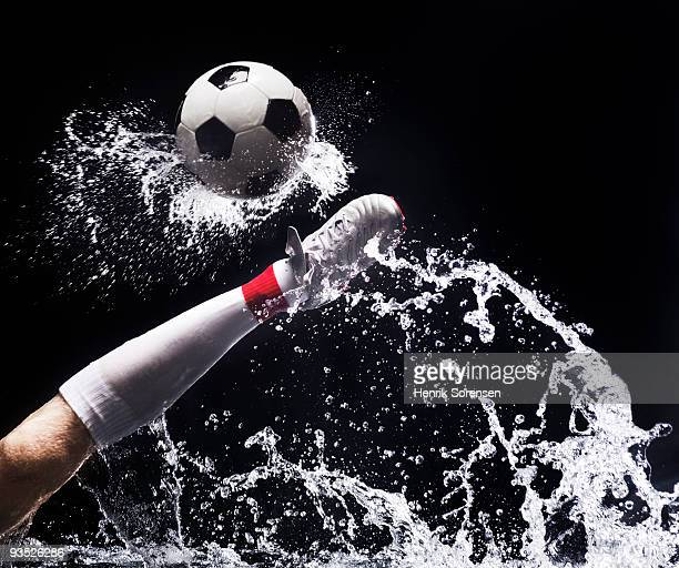 football in water