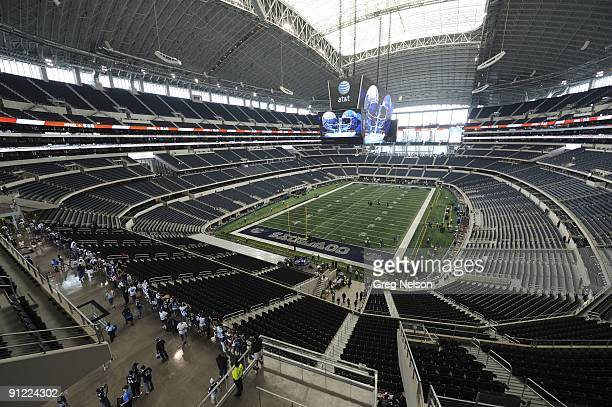 Interior view of fans entering Cowboy Stadium before Dallas Cowboys vs New York Giants Arlington TX 9/20/2009 CREDIT Greg Nelson