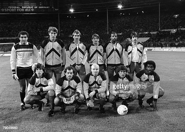 Football International Friendly Wembley England 1 v West Germany 2 13th October 1982 The England team pose for a group photo before the match They...