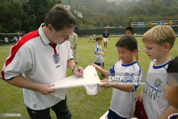 Football Interview with former England player Kenny Sansom at Indian Recreation Club So Kon Po Causeway Bay 11 March 2006