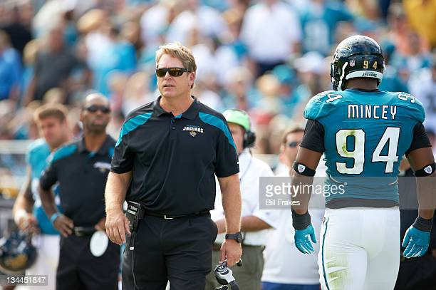 Jacksonville Jaguars head coach Jack Del Rio during game vs Houston Texans at EverBank Field Jacksonville FL CREDIT Bill Frakes