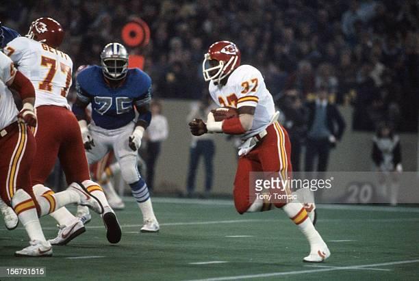 Kansas City Chiefs Joe Delaney in action rushing vs Detroit Lions at Pontiac Silverdome Pontiac MI CREDIT Tony Tomsic
