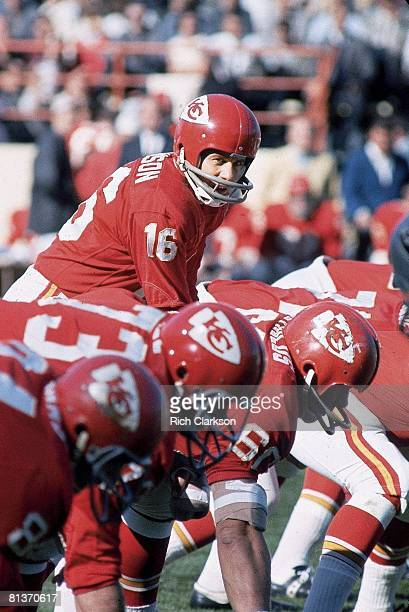 Football Kansas City Chiefs QB Len Dawson in action vs Oakland Raiders Kansas City MO