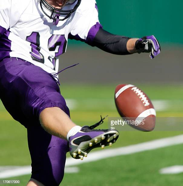 football kicker - kick off stock pictures, royalty-free photos & images
