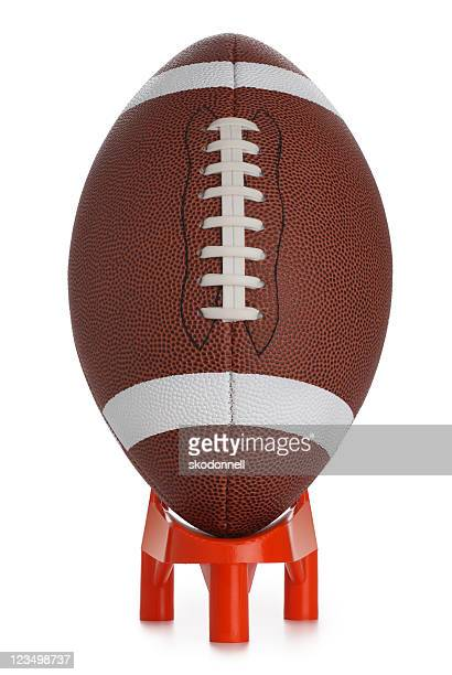 football kickoff - tee sports equipment stock photos and pictures