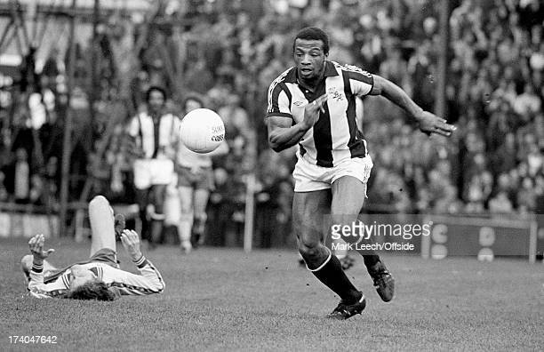 Football League Division1 Norwich City v West Bromwich Albion Cyrille Regis leaves a Norwich defender lying on the floor as he chases the ball