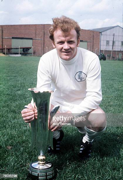 Football Leeds United captain Billy Bremner poses with the Inter City Fairs Cup trophy