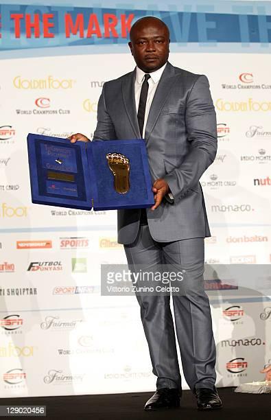 Football legend Abedi Pele attend the Golden Foot Ceremony Awards on October 10 2011 in Monaco Monaco