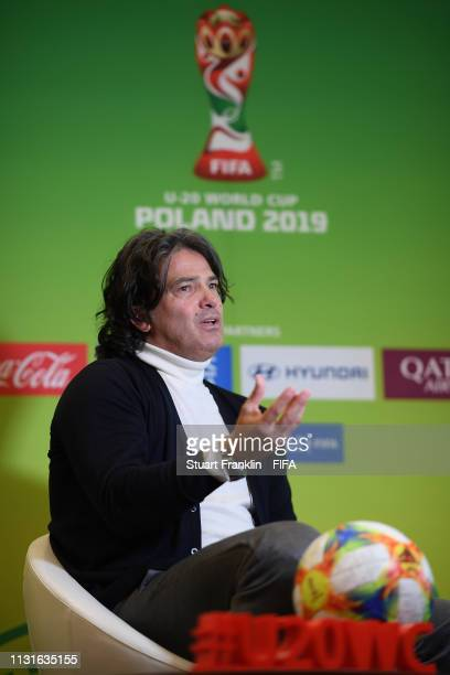 Football legend Fernando Couto of Portugal is seen at a meet and greet event prior to the Official Draw for the FIFA U 20 World Cup on February 23...