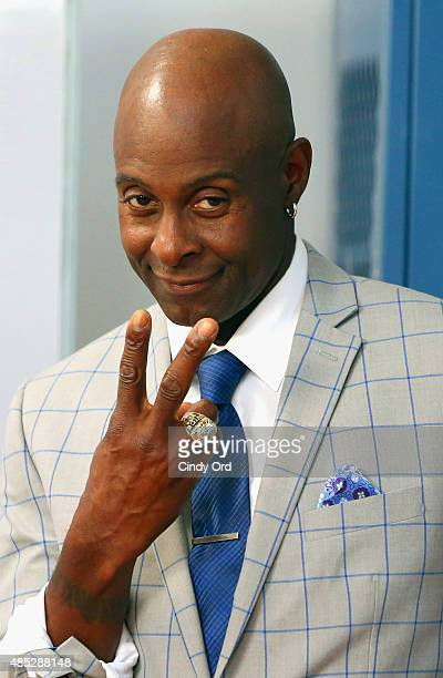 Football legend Jerry Rice leads the LYSOL Healthy Habits Workshop on Wednesday August 26 2015 in New York City In his second year as Healthy Habits...