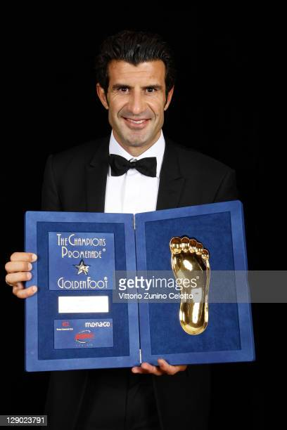 Football legend Luis Figo attend the Golden Foot Ceremony Awards on October 10 2011 in Monaco Monaco