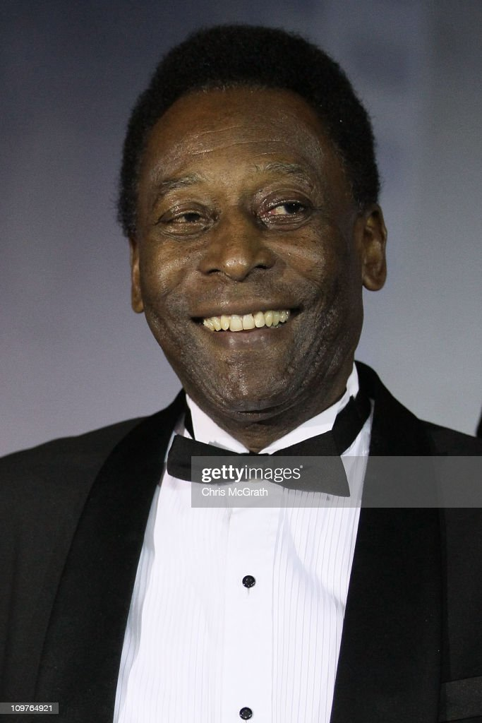 Football legend Pele is presented on stage during the Singapore Men's Fashion Week 2011 Charity Gala dinner at the Mandarin Hotel on March 4, 2011 in Singapore. The Gala was held to promote the 2011 Mens Fashion Week which will be held for the first time in Asia and only the third time in the world. MFW will promote local and international designers and will run from the 30th of March to the 3rd of April.