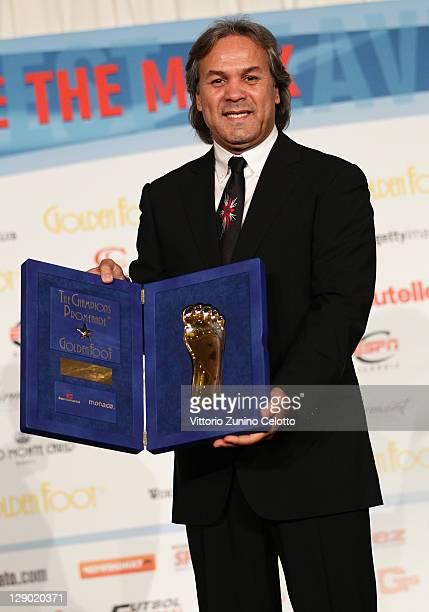 Football legend Rabah Madjer attend the Golden Foot Ceremony Awards on October 10 2011 in Monaco Monaco
