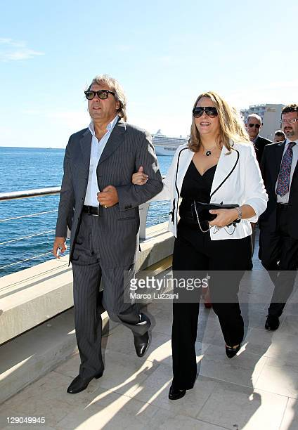 Football legend Rabah Madjer visit the Champions Promenade on October 10 2011 in Monaco Monaco