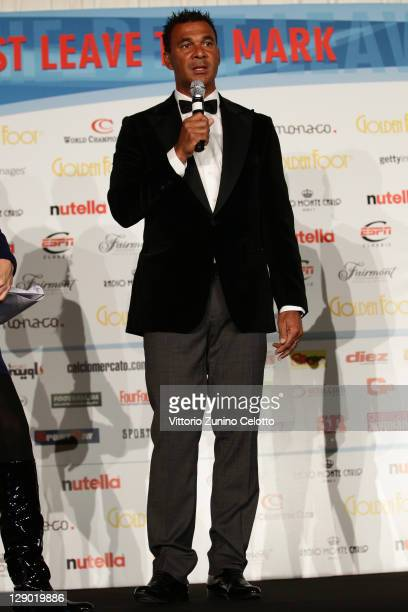 Football legend Ruud Gullit attend the Golden Foot Ceremony Awards on October 10 2011 in Monaco Monaco