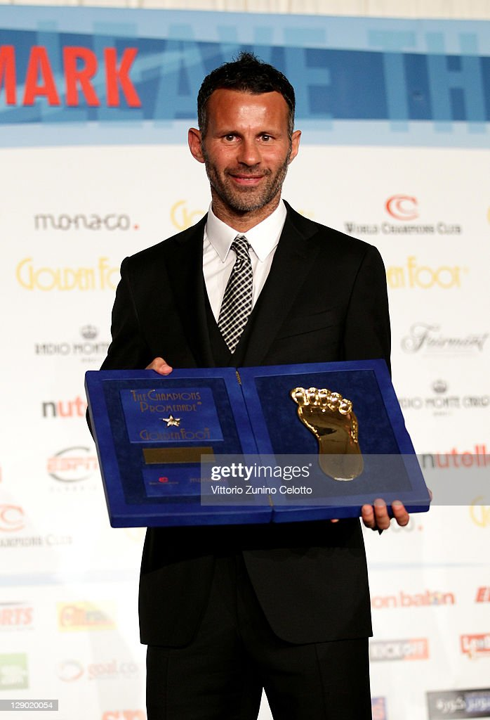 Football Legend Ryan Giggs At The 2011 Golden Foot Awards
