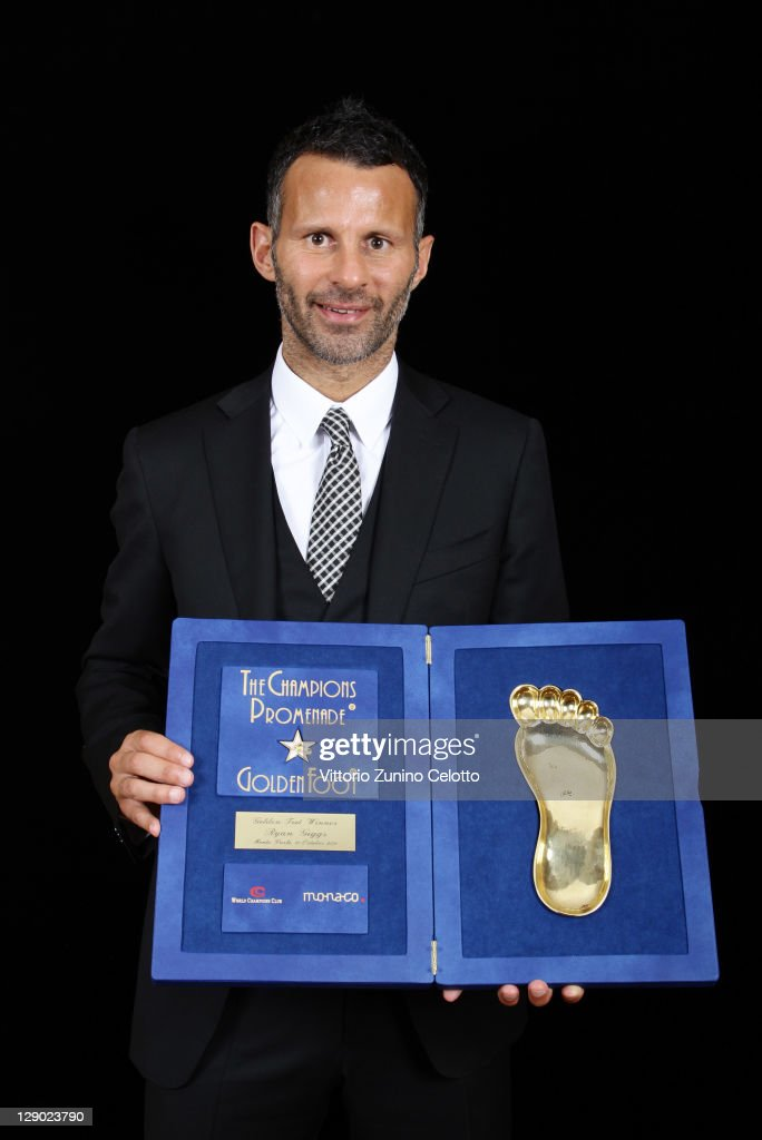 Football legend Ryan Giggs attend the Golden Foot Ceremony Awards on October 10, 2011 in Monaco, Monaco.