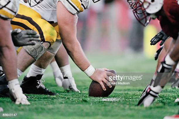 football line of scrimmage - american football sport stock pictures, royalty-free photos & images