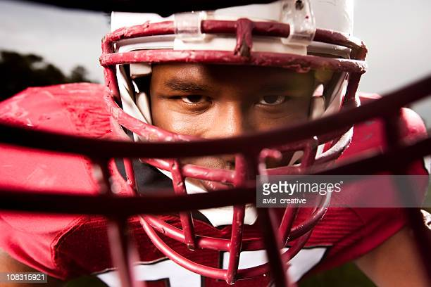 Football Linebacker In Your Face