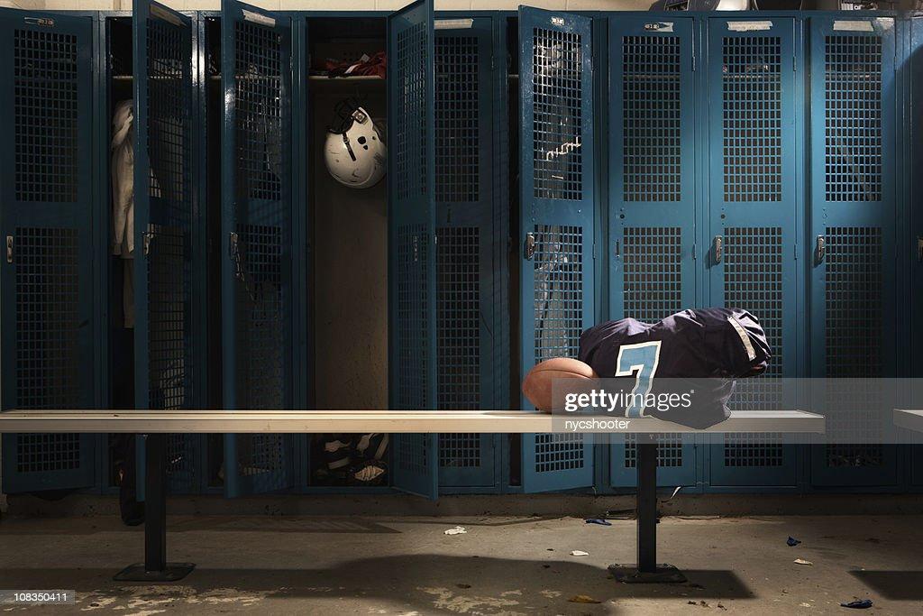 Football Locker room : Stock Photo
