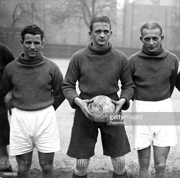 Football London England 3rd October 1932 Members of the Austrian National football team training at Highbury for their International match v England...