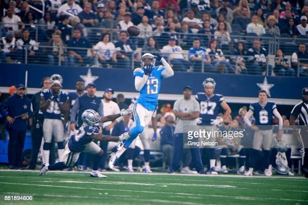 Los Angeles Chargers Keenan Allen in action making catch vs Dallas Cowboys at ATT Stadium Arlington TX CREDIT Greg Nelson