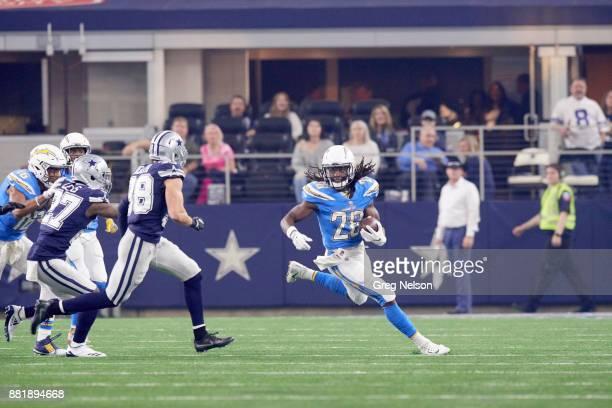 Los Angeles Chargers Melvin Gordon in action rushing vs Dallas Cowboys at ATT Stadium Arlington TX CREDIT Greg Nelson