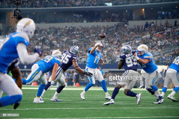 Los Angeles Chargers QB Philip Rivers in action passing vs Dallas Cowboys at ATT Stadium Arlington TX CREDIT Greg Nelson