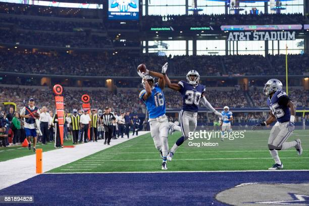 Los Angeles Chargers Tyrell Williams in action making catch vs Dallas Cowboys Anthony Brown at ATT Stadium Arlington TX CREDIT Greg Nelson