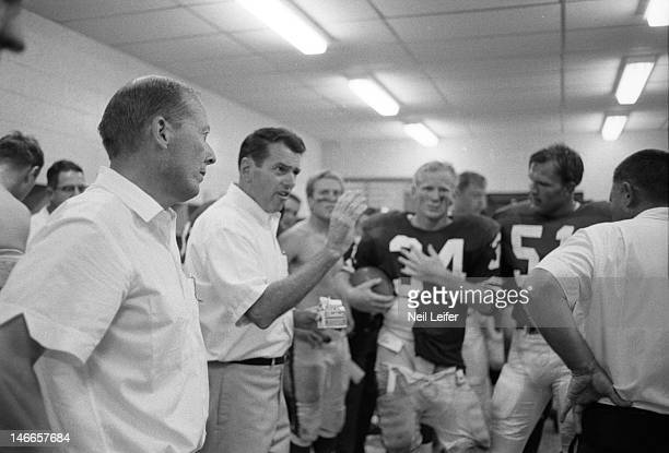 Los Angeles Rams head coach George Allen in locker room after game vs New Orleans Saints at Tulane Stadium. New Orleans, LA 9/17/1967CREDIT: Neil...