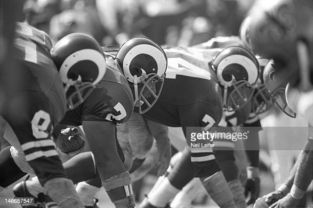 Los Angeles Rams Lamar Lundy , Roger Brown , and Merlin Olsen lined up vs New Orleans Saints at Tulane Stadium. Rams four defensive linemen known as...