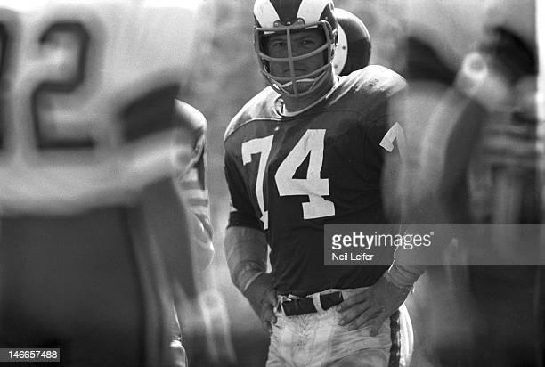 Los Angeles Rams Merlin Olsen during game vs New Orleans Saints at Tulane Stadium. New Orleans, LA 9/17/1967CREDIT: Neil Leifer