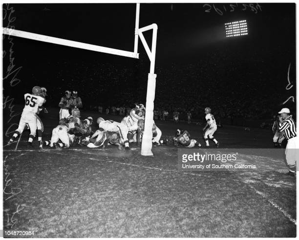 Football -- Los Angeles Rams versus Cleveland Browns, 6 September 1957. 'Sports'. .;Caption slip reads: 'Photographer: Lou Mack. Date: . Assignment:...