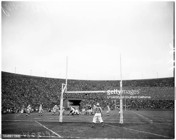 Football -- Los Angeles Rams versus Colts, 15 December 1957. Dan Reeves;Mr & Mrs Monte F Craig. 'Sports'. .;Caption slip reads: 'Photographer:...