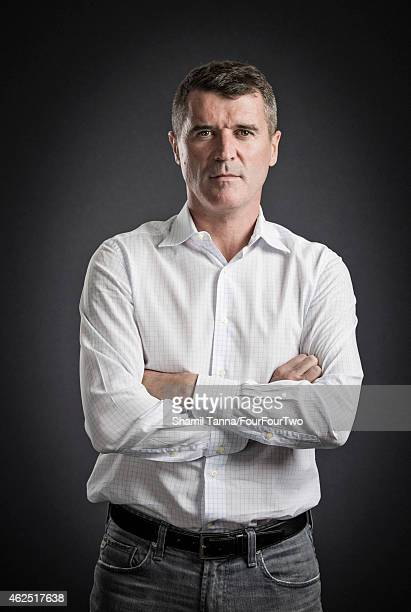 Football manager and pundit Roy Keane is photographed for FourFourTwo magazine on April 19, 2014 in London, England.