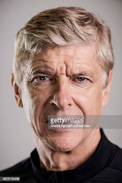 Football manager Arsene Wenger is photographed for FourFourTwo magazine on October 18 2012 in London England