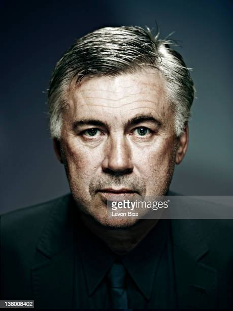Football manager Carlo Ancelotti is photographed for Manager magazine on September 23 2010 in London England