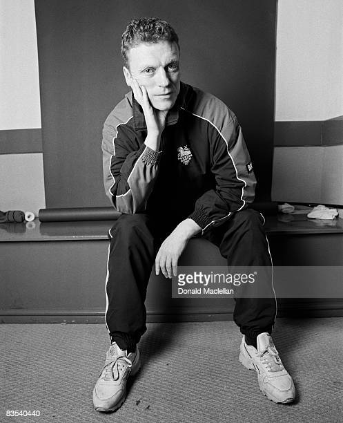 Football manager David Moyes poses for a portrait shoot in Liverpool 5th August 2001