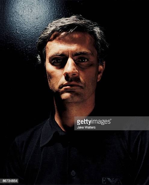 Football manager Jose Mourinho poses for a portrait shoot for the GQ magazine in London on December 13 2005