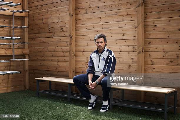 Football manager Jose Mourinho when he was manager of Chelsea football club photographed for Prospect magazine on July 9 2005 in Cobham England