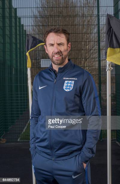 Football manager of England Gareth Southgate is photographed for the Telegraph on February 7 2017 in Burton England