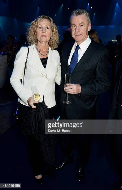 Football manager Ottmar Hitzfeld and wife Beate Nehter attend the IWC 'Inside The Wave' Gala event during the Salon International de la Haute...